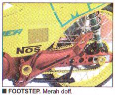 Footstep merah doff